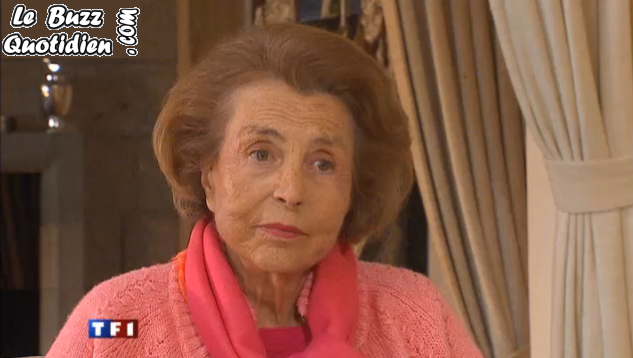 Interview Liliane Bettencourt JT 20H TF1 video