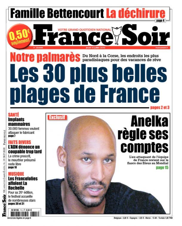 Nicolas Anelka tacle Bixente Lizarazu France Soir