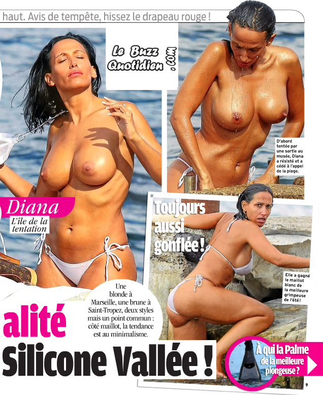 Diana seins nus topless