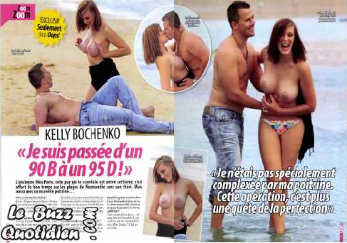 Kelly Bochenko seins nus Oops