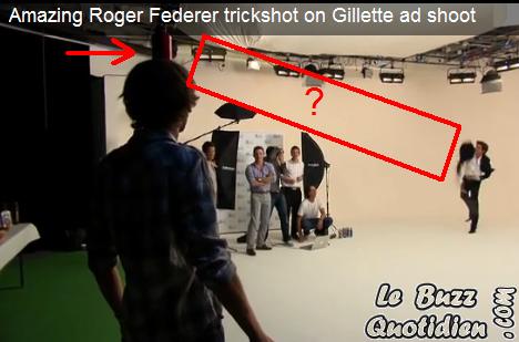 Roger Federer pub Gillette bouteille