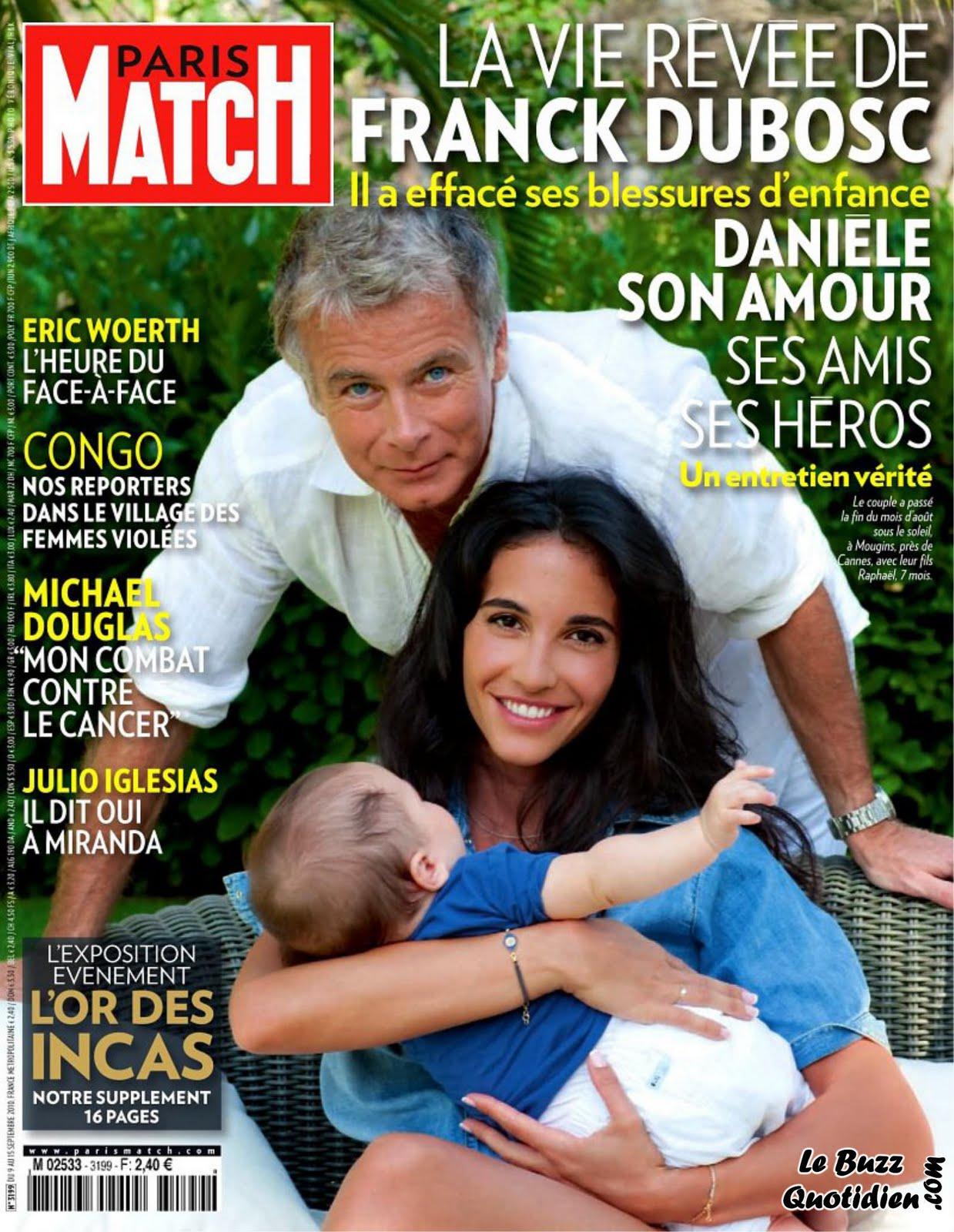 Danièle femme Franck Dubosc fils Raphaël Paris Match