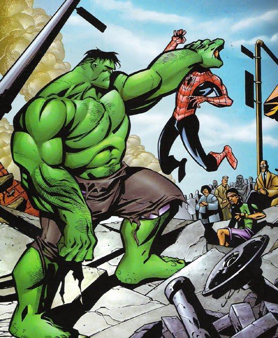 El Planeta de Kaín: El hombre Araña Vs. Hulk