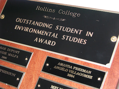 environmental studies student of the year