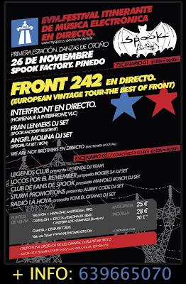 cartel festival evm valencia.festival musica electronica.front 242 valencia spook