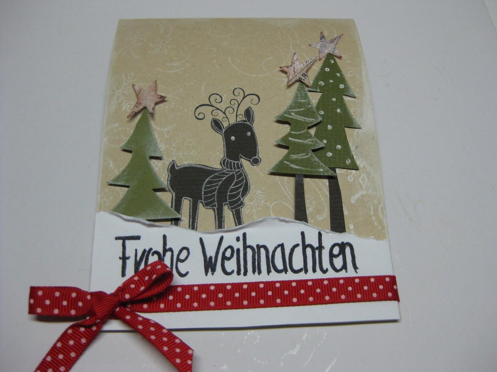 Steckenpferdchen t rchen 13 for Anleitung weihnachtskarten