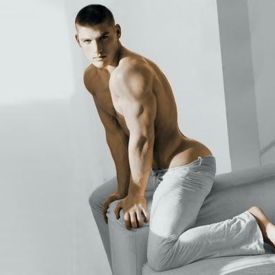 shirtless Kerry Degman and his sexy butt