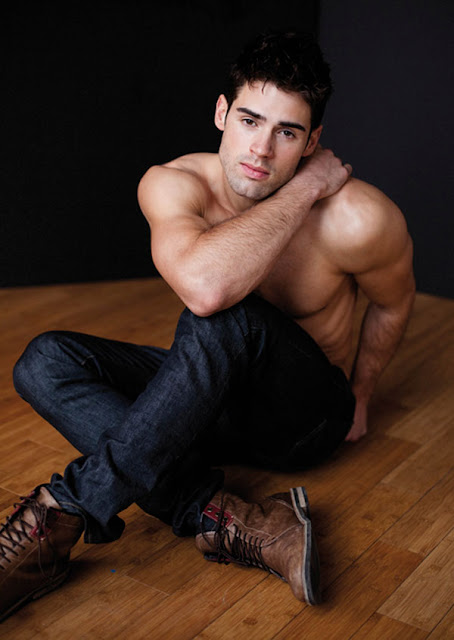 shirtless Chad White photographed by Gregory Vaughan