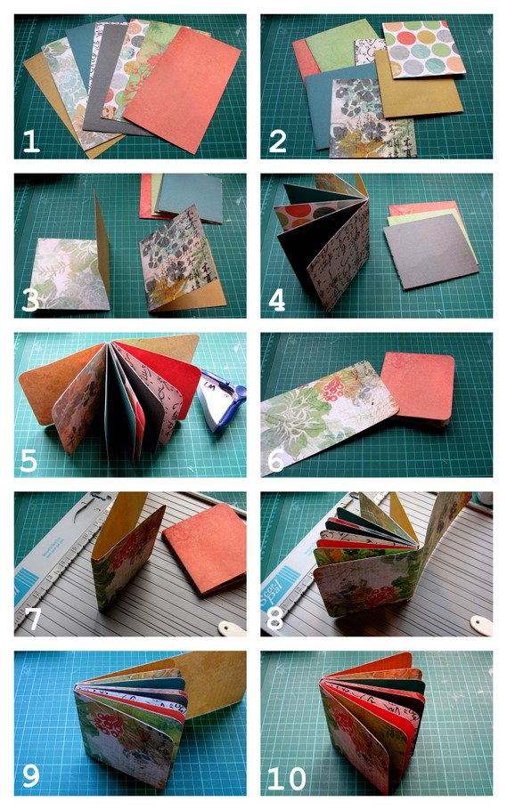 How To Make Book Cover Paper ~ Folded paper mini s plus tutorial papervine