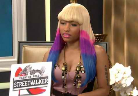 "Nicki Minaj plays ""Fashion Police"" deputy with Joan Rivers in a version of"