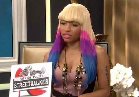 "Nicki Minaj plays ""Fashion Police"" deputy with Joan Rivers in a version of"