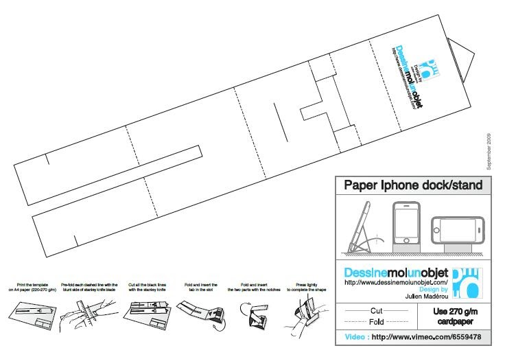 Gedankenrausch: Iphone Paper Dock / Stand