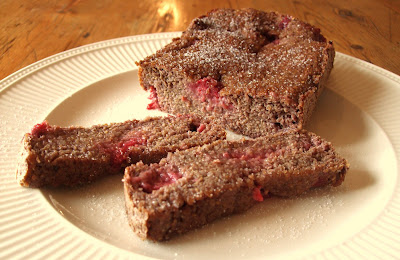 Gluten Free, Dairy Free Raspberry & Flax Seed Loaf!