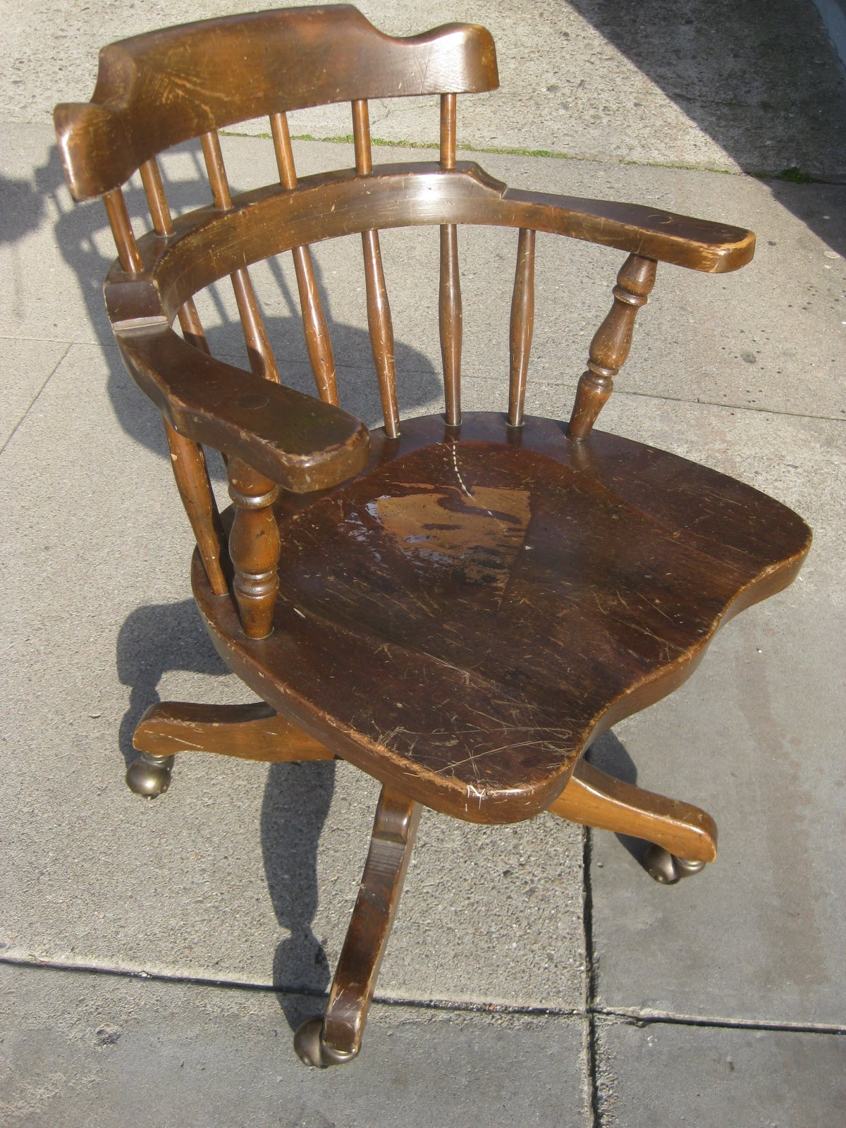 UHURU FURNITURE & COLLECTIBLES: SOLD - Wooden Office Chair - $35