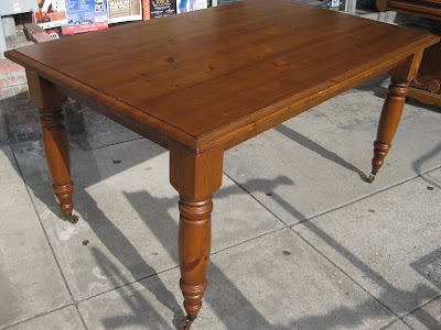 Pine Dining Table on Uhuru Furniture   Collectibles  Sold   Big Pine Dining Table    100