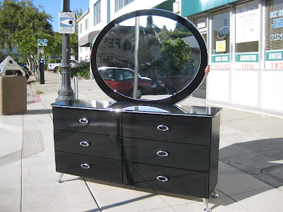 Sold Black Lacquer Dresser Set 200 So Shiny And Clean You Can See Yourself In Them