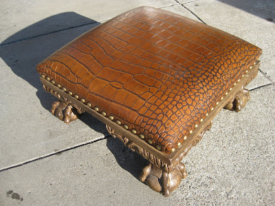 Site Blogspot  Sofa  Ottoman on Uhuru Furniture   Collectibles  Sold   Alligator Ottoman    45