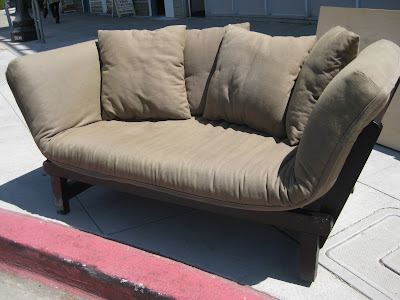 SOLD - chaise/loveseat convertible - $120