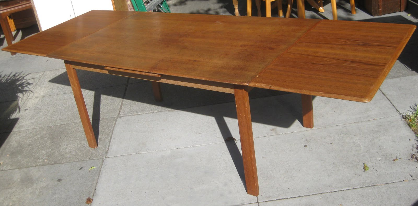 uhuru furniture collectibles sold danish teak dining table 250