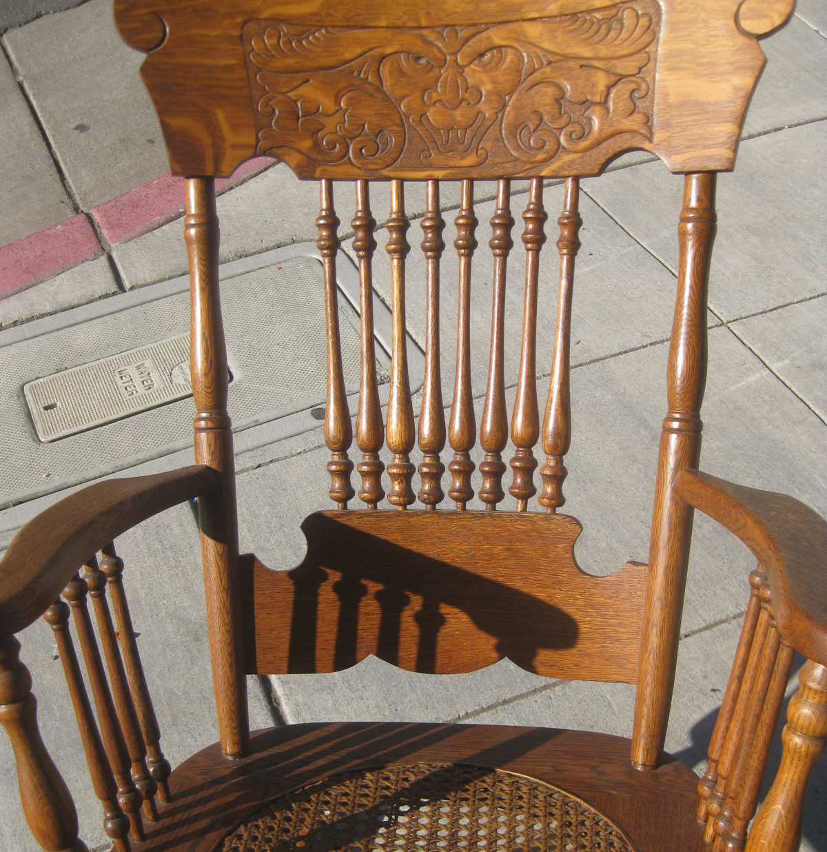 SOLD - Antique Rocking Chair - $100 - UHURU FURNITURE & COLLECTIBLES: SOLD - Antique Rocking Chair - $100