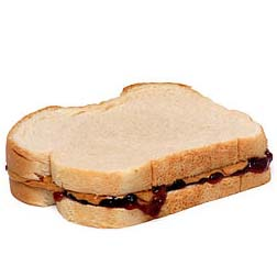 Smooth Peter Pan Peanut Butter  Welch s Grape Jelly    Whole Wheat