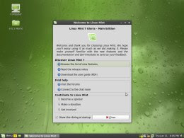 Linux Mint 7 review: welcome screen