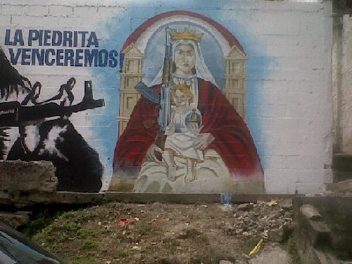 Alucinante y polémico mural en Caracas. Malditos