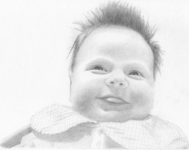 Ma petite nièce Alyssia à 7 semaines