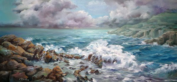 Marina rompiendo las olas
