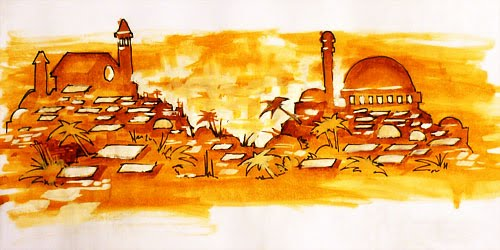 Bocetos mural cruce de culturas