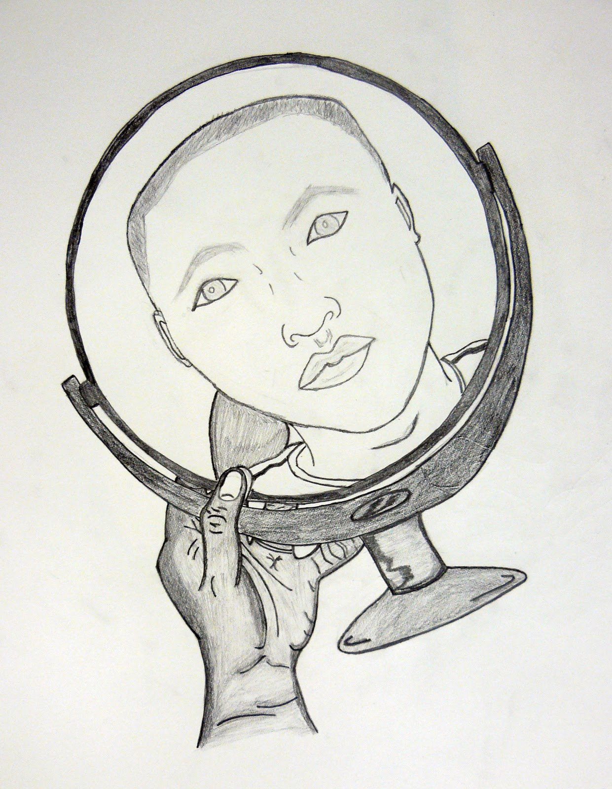 Hand Mirror Drawing