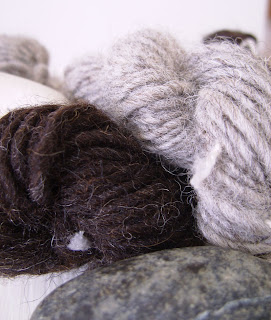 Two different Merino hand spun yarn
