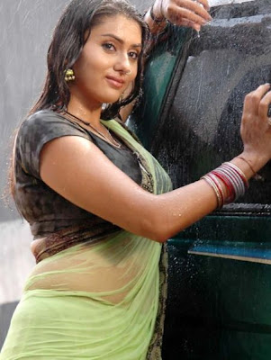 Sexy south indian actress in wet saree - Hot photo gallery