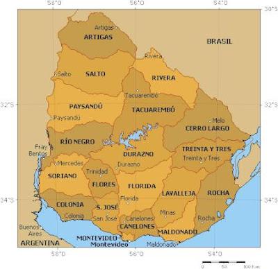 Uruguay mapa