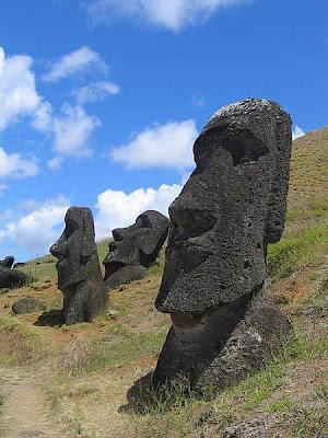 Isla de Pascua moais