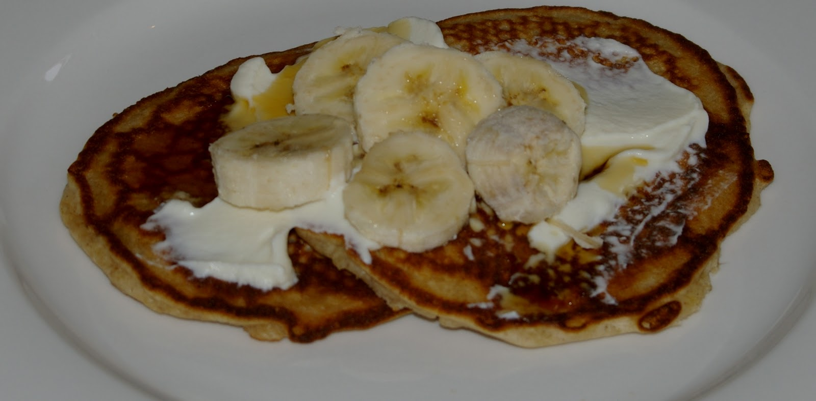 Buckwheat Pancakes with Ricotta, Maple Syrup and Banana