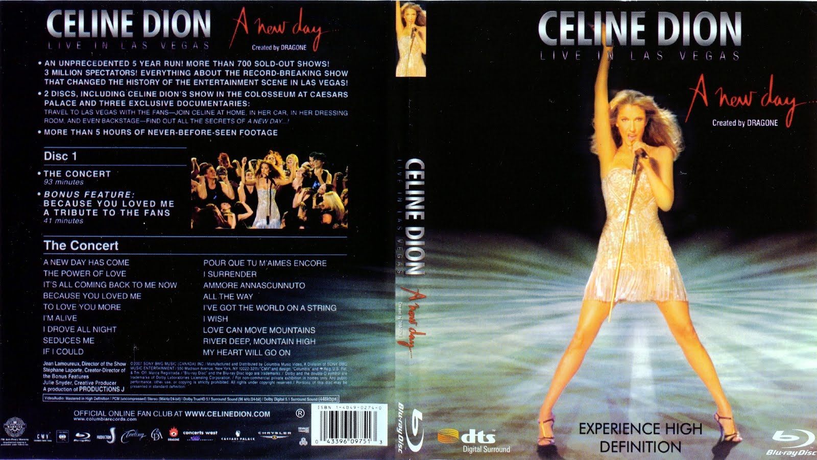 CELINE DION - A New Day - Live in Las