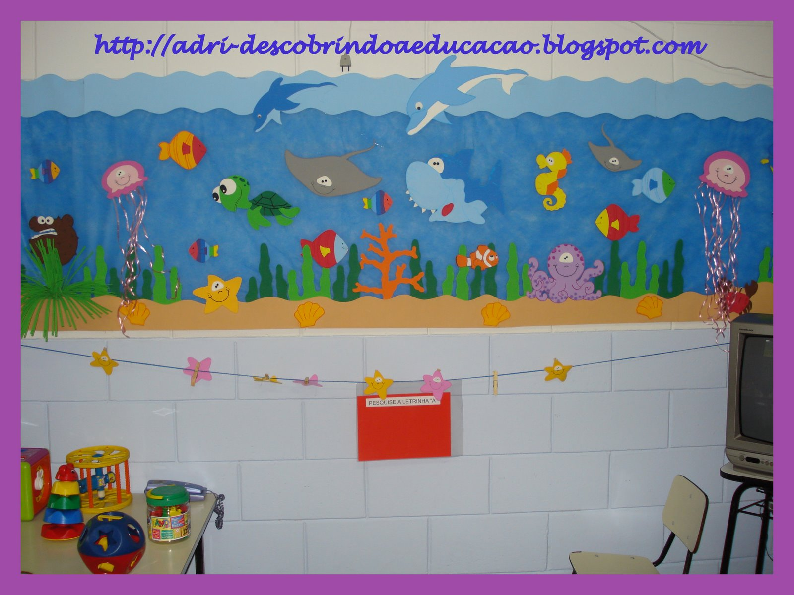Allégresse ideias para decorar a sala de aula tema fundo do mar