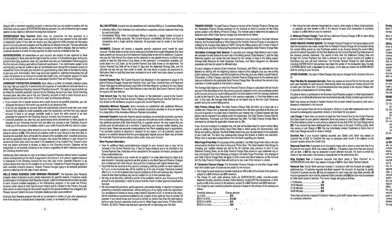 Teh 402 Arbitration Agreements Wells Fargo In Plete