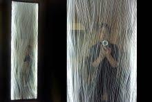 le miroir LADY GODIVA de J Fréville était présenté dans l'expo Sans Dessous chez M Cat