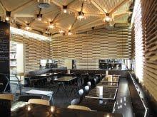 Le Café du 104 aménagé par S Wierinck est ouvert 104 r d'Aubervillier Paris XIX