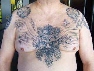 Neopagan ink green man chest piece for Neo pagan tattoos