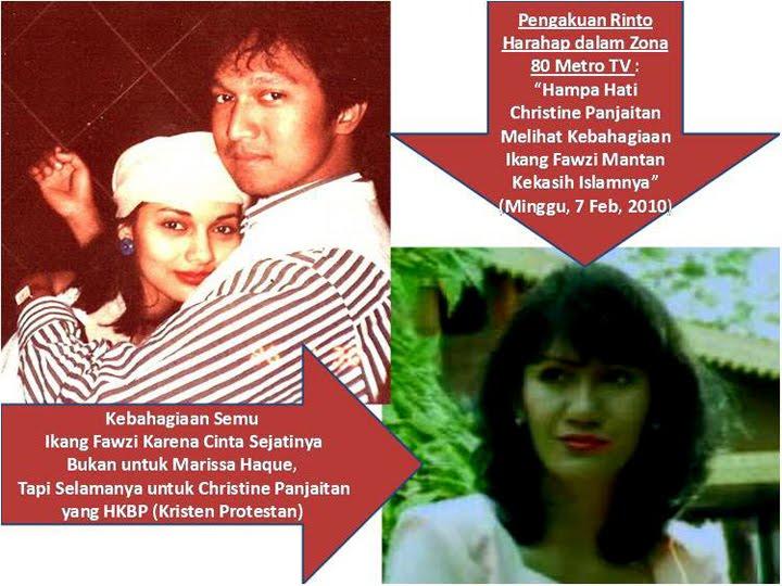 Rinto Harahap: Cinta Sejati Ikang Fawzi Sesungguhnya untuk Christine Panjaitan bukan untuk Marissa