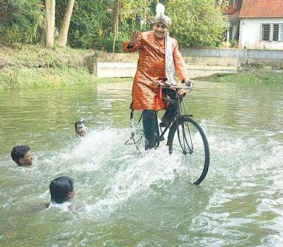 Cycling On Water Indrajaal Tiny Photo Gallery