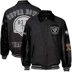 Purchase Your Raiders Super Bowl Leather Jacket Today!