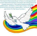 Il simbolo del  Movimento Internazionale  Ambasciatori Testimoni e Artisti  Arcobaleno per la Pace