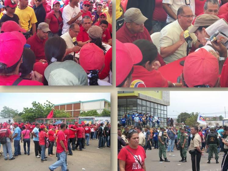 Imagenes de la activa participación del pueblo revolucionario en el simulacro electoral pasado