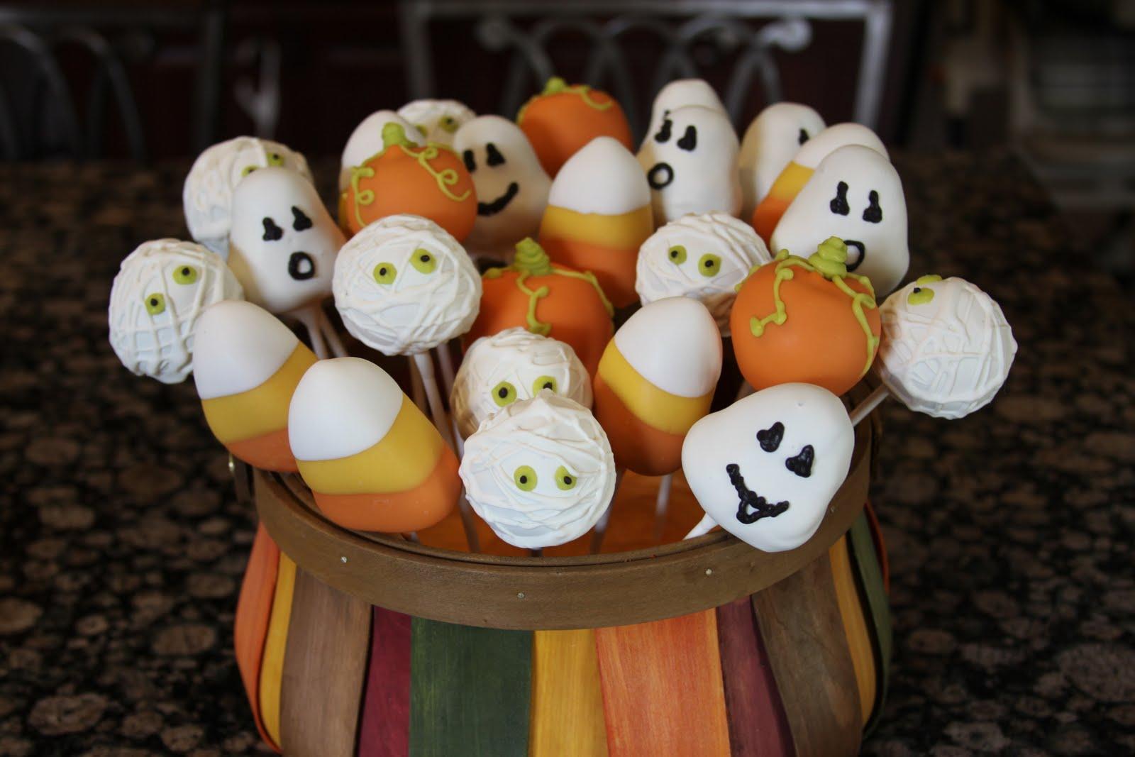 .: Fall/Halloween Cake Pops