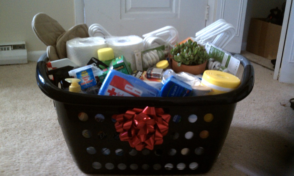 home to you first apartment gift basket