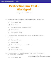perfectionism test